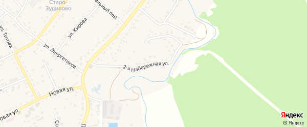 Набережная улица на карте села Зудилово с номерами домов