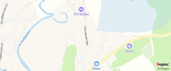 Песчаный переулок на карте села Бобровки с номерами домов