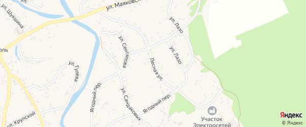 Лесная улица на карте села Бобровки с номерами домов