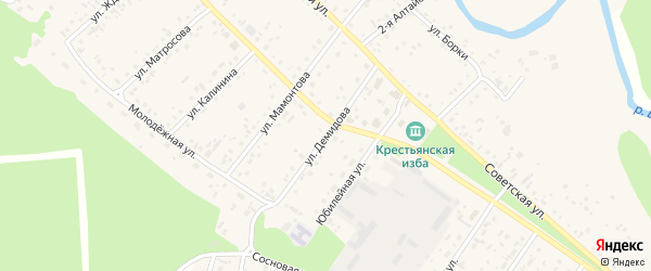 Улица Демидова на карте села Бобровки с номерами домов