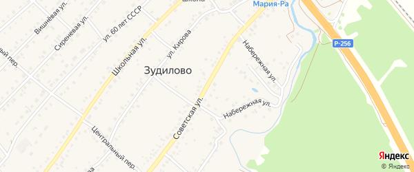 Советская улица на карте села Зудилово с номерами домов