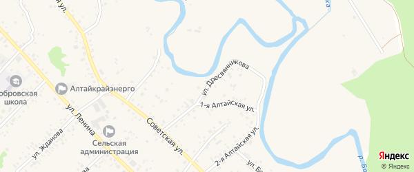 Улица Дресвянникова на карте села Бобровки с номерами домов