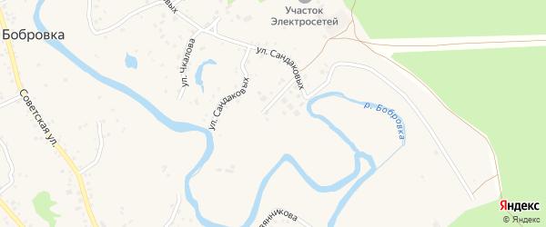 Микрорайон Березка на карте села Бобровки с номерами домов