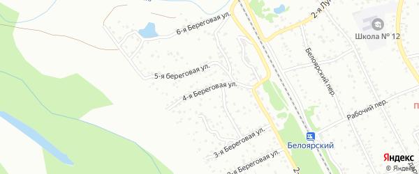 4-я Береговая улица на карте Новоалтайска с номерами домов