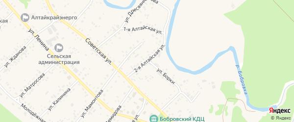 2-я Алтайская улица на карте села Бобровки с номерами домов