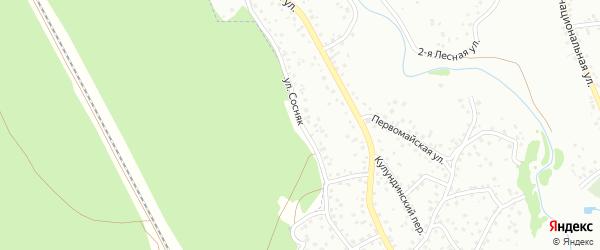 Улица Сосняк на карте Новоалтайска с номерами домов