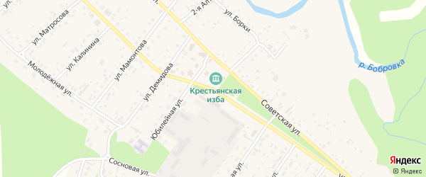 Улица Ленина на карте села Бобровки с номерами домов