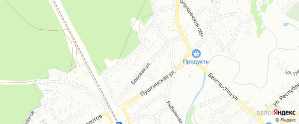 Боровая улица на карте Новоалтайска с номерами домов