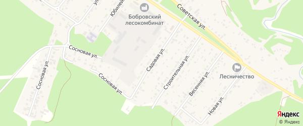 Садовая улица на карте села Бобровки с номерами домов