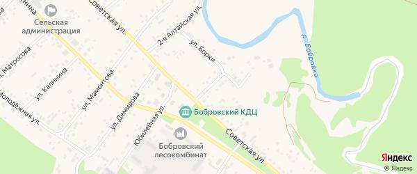 3-я Алтайская улица на карте села Бобровки с номерами домов