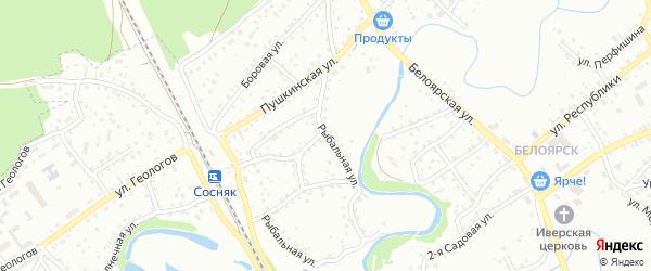 Рыбальная улица на карте Новоалтайска с номерами домов
