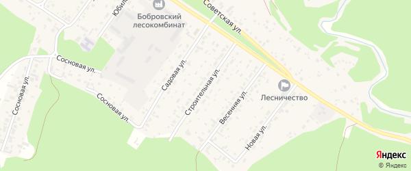 Строительная улица на карте села Бобровки с номерами домов