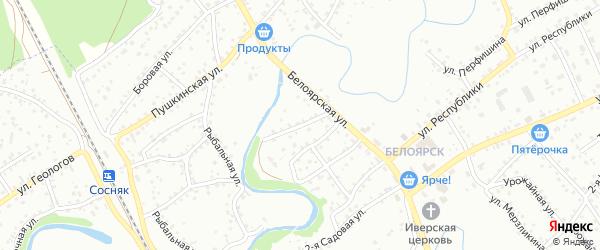 2-я Подгорная улица на карте Новоалтайска с номерами домов