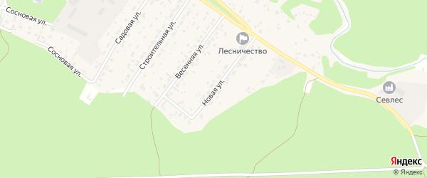 Новая улица на карте села Бобровки с номерами домов