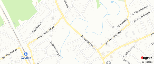 Белоярская улица на карте Новоалтайска с номерами домов