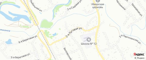 2-я Луговая улица на карте Новоалтайска с номерами домов