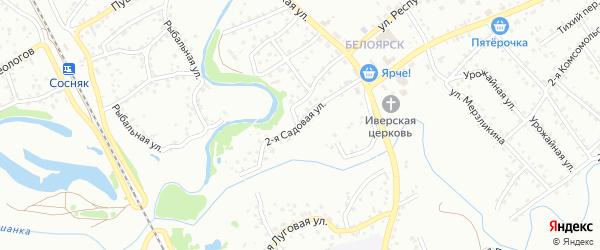 2-я Садовая улица на карте Новоалтайска с номерами домов
