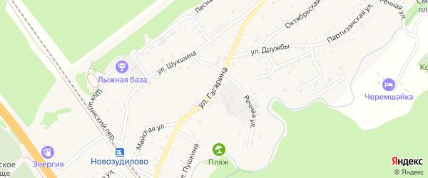 Улица Гагарина на карте села Зудилово с номерами домов