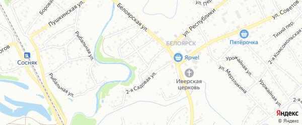 Переулок Кривой рог на карте Новоалтайска с номерами домов