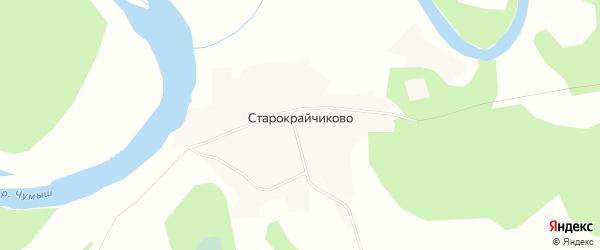 Карта села Старокрайчиково в Алтайском крае с улицами и номерами домов