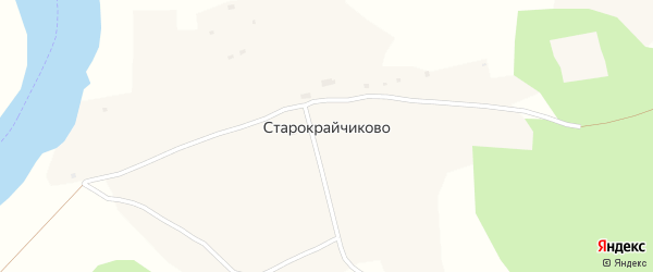 Подгорная улица на карте села Старокрайчиково с номерами домов