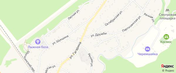 Улица Дружбы на карте села Зудилово с номерами домов