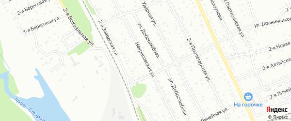 Некрасовская улица на карте Новоалтайска с номерами домов