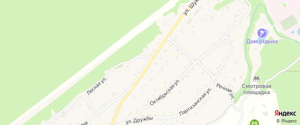 Улица Шукшина на карте села Зудилово с номерами домов