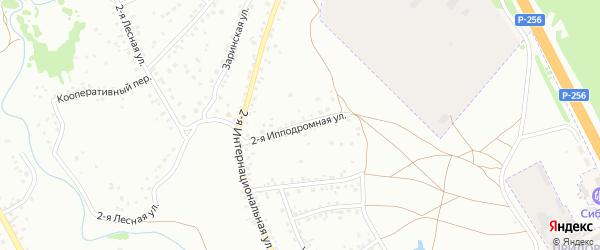 2-я Ипподромная улица на карте Новоалтайска с номерами домов