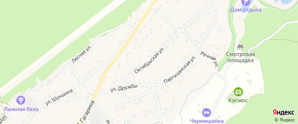 Октябрьская улица на карте села Зудилово с номерами домов
