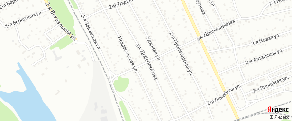 Улица Добролюбова на карте Новоалтайска с номерами домов