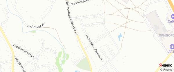 Улица М.Расковой на карте Новоалтайска с номерами домов