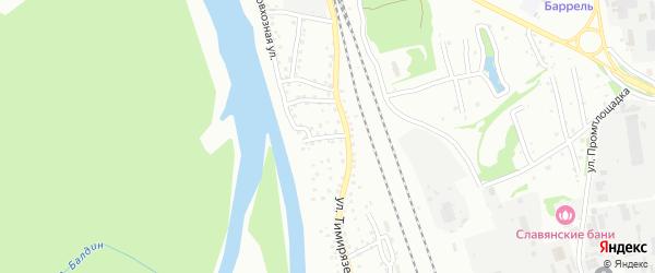 Совхозная улица на карте Новоалтайска с номерами домов