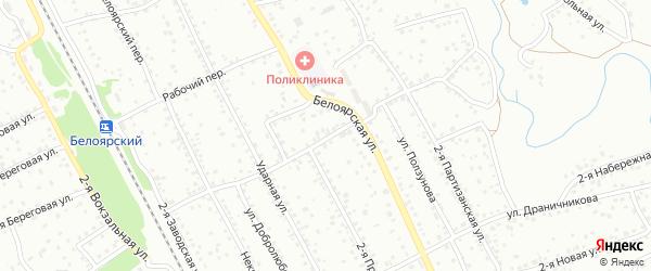2-й Трудовой переулок на карте Новоалтайска с номерами домов