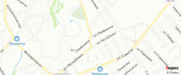 Улица Перфишина на карте Новоалтайска с номерами домов
