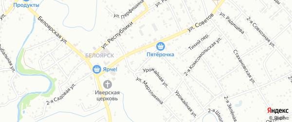 Клубный переулок на карте Заринска с номерами домов