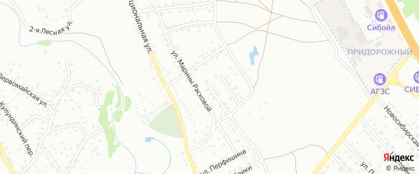 1-я Ипподромная улица на карте Новоалтайска с номерами домов
