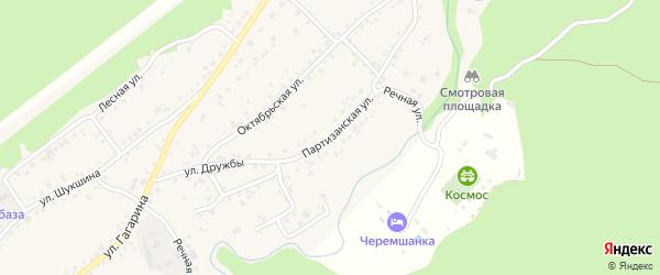 Партизанская улица на карте села Зудилово с номерами домов