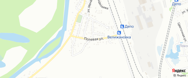 Полевая улица на карте Новоалтайска с номерами домов