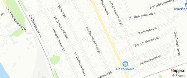 2-я Пролетарская улица на карте Новоалтайска с номерами домов