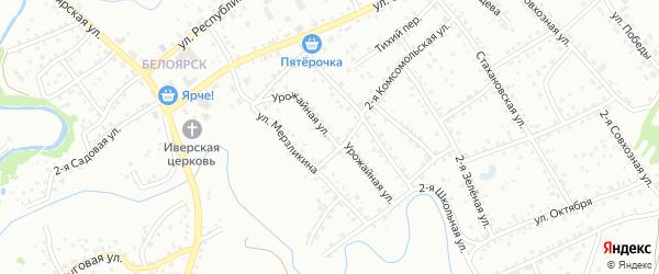 Урожайная улица на карте Новоалтайска с номерами домов