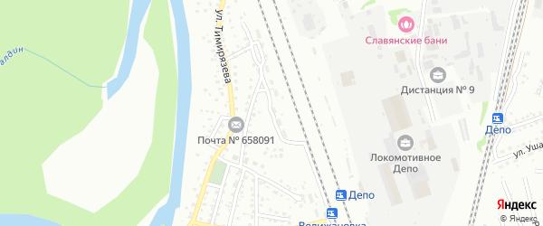 Улица Менделеева на карте Новоалтайска с номерами домов