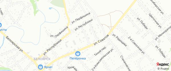 Переулок Мелиораторов на карте Новоалтайска с номерами домов