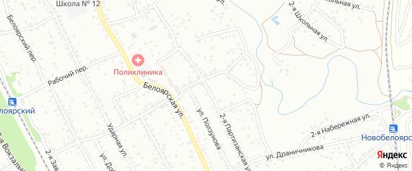 2-я Партизанская улица на карте Новоалтайска с номерами домов