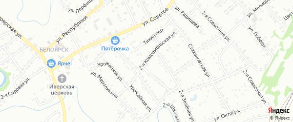 2-я Комсомольская улица на карте Новоалтайска с номерами домов