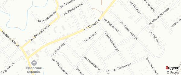 Тихий переулок на карте Новоалтайска с номерами домов