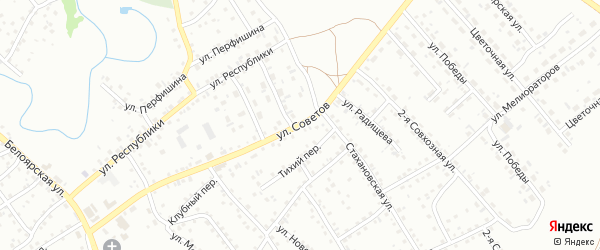 Улица Советов на карте Новоалтайска с номерами домов