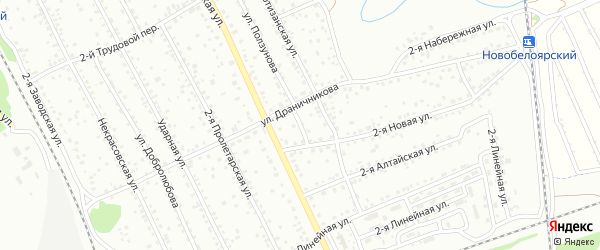 Улица Ползунова на карте Новоалтайска с номерами домов