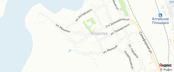 Улица Минина на карте Новоалтайска с номерами домов