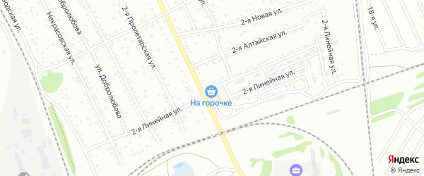 2-я Линейная улица на карте Новоалтайска с номерами домов
